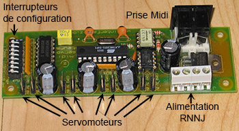 Ancienne carte 8 servomoteurs Interface-Z